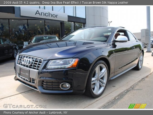 deep sea blue pearl effect 2009 audi s5 4 2 quattro tuscan brown silk nappa leather interior. Black Bedroom Furniture Sets. Home Design Ideas