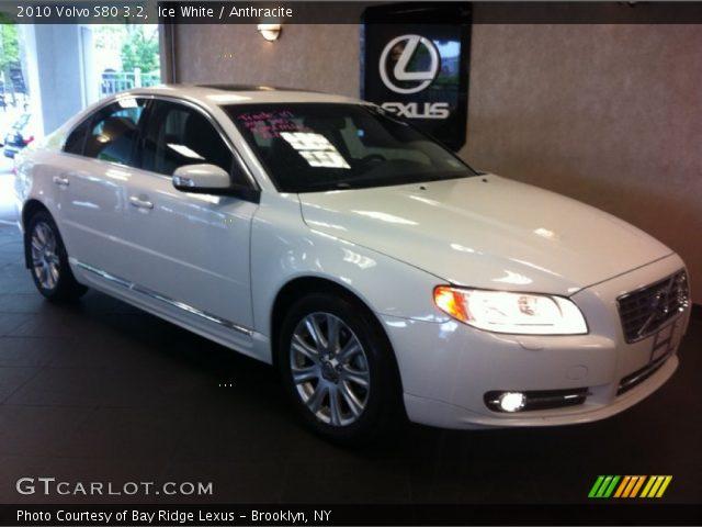 ice white 2010 volvo s80 3 2 anthracite interior. Black Bedroom Furniture Sets. Home Design Ideas