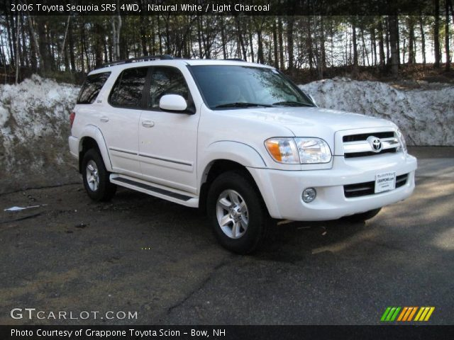 natural white 2006 toyota sequoia sr5 4wd light charcoal interior vehicle. Black Bedroom Furniture Sets. Home Design Ideas