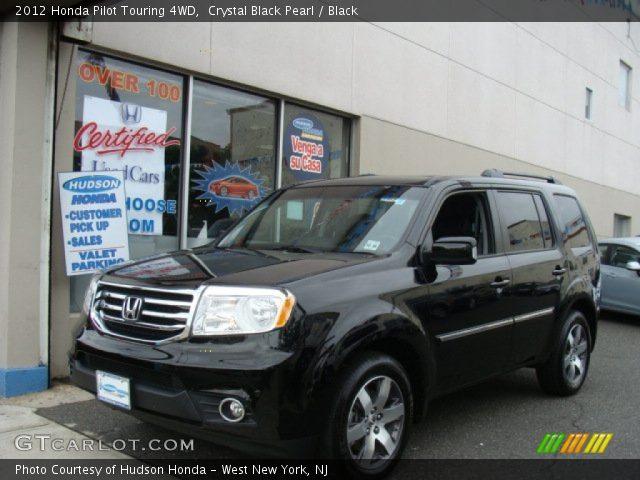 crystal black pearl 2012 honda pilot touring 4wd black interior vehicle. Black Bedroom Furniture Sets. Home Design Ideas