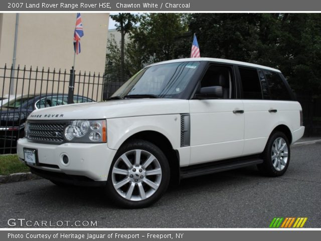 chawton white 2007 land rover range rover hse charcoal interior vehicle. Black Bedroom Furniture Sets. Home Design Ideas