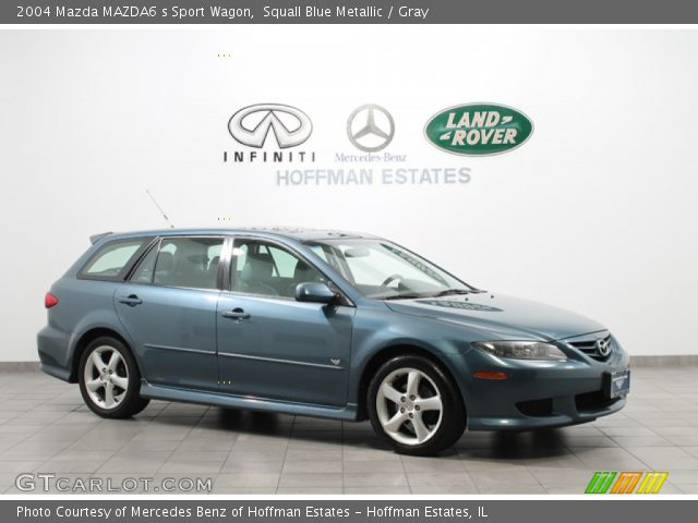 squall blue metallic 2004 mazda mazda6 s sport wagon gray interior vehicle. Black Bedroom Furniture Sets. Home Design Ideas