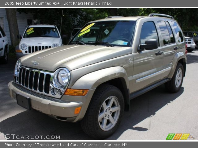 Light Khaki Metallic 2005 Jeep Liberty Limited 4x4 Khaki Interior Vehicle