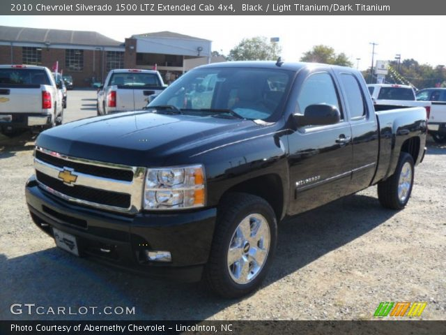 black 2010 chevrolet silverado 1500 ltz extended cab 4x4 light titanium dark titanium. Black Bedroom Furniture Sets. Home Design Ideas