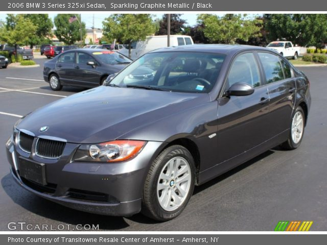 sparkling graphite metallic 2006 bmw 3 series 325xi sedan black interior. Black Bedroom Furniture Sets. Home Design Ideas