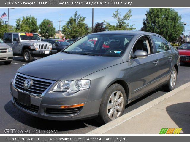 united grey metallic 2007 volkswagen passat 2 0t sedan. Black Bedroom Furniture Sets. Home Design Ideas