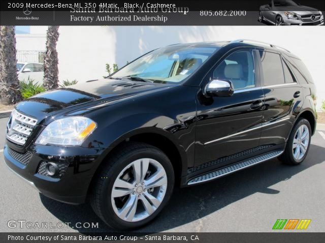 Black 2009 mercedes benz ml 350 4matic cashmere for Mercedes benz ml 350 2009