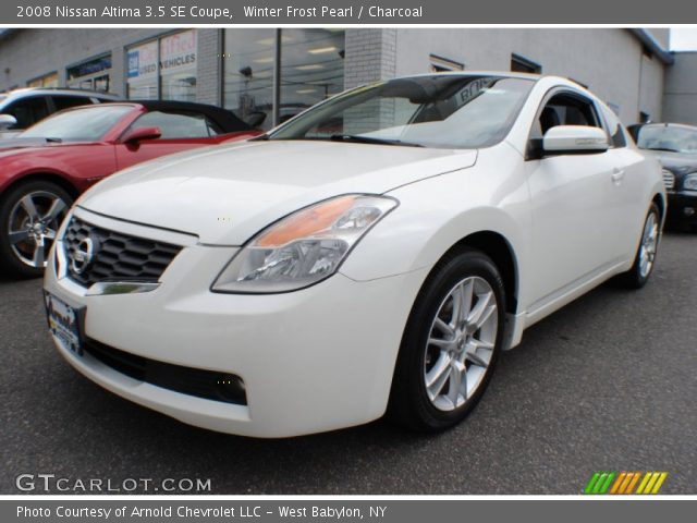 winter frost pearl 2008 nissan altima 3 5 se coupe charcoal interior. Black Bedroom Furniture Sets. Home Design Ideas