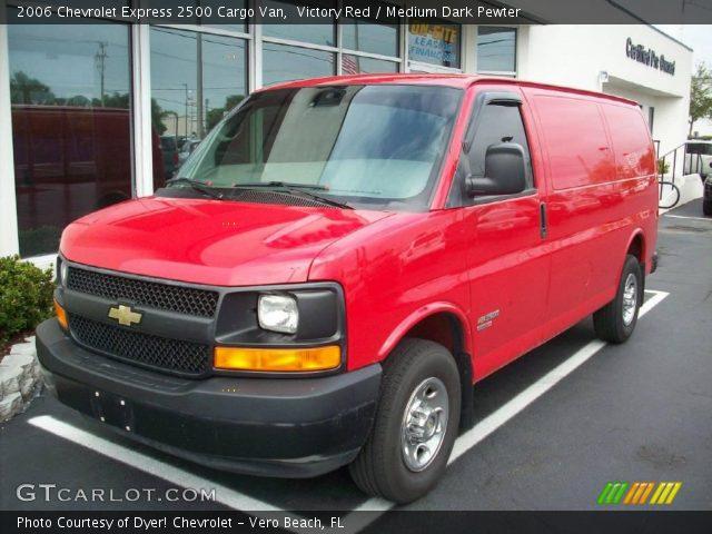 victory red 2006 chevrolet express 2500 cargo van medium dark pewter interior. Black Bedroom Furniture Sets. Home Design Ideas