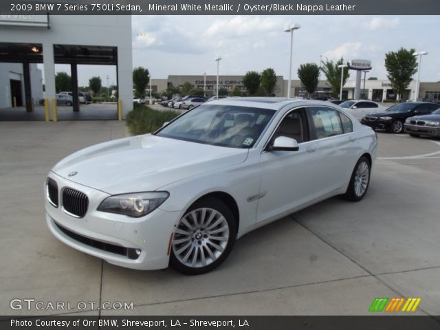 mineral white metallic 2009 bmw 7 series 750li sedan with oyster black. Cars Review. Best American Auto & Cars Review