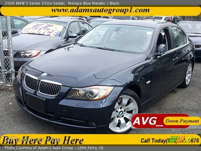 monaco blue metallic 2006 bmw 3 series 330xi sedan black interior vehicle. Black Bedroom Furniture Sets. Home Design Ideas