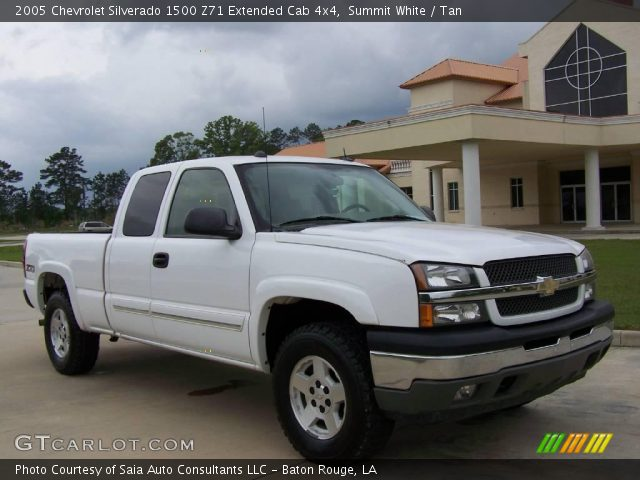 summit white 2005 chevrolet silverado 1500 z71 extended cab 4x4 tan interior. Black Bedroom Furniture Sets. Home Design Ideas