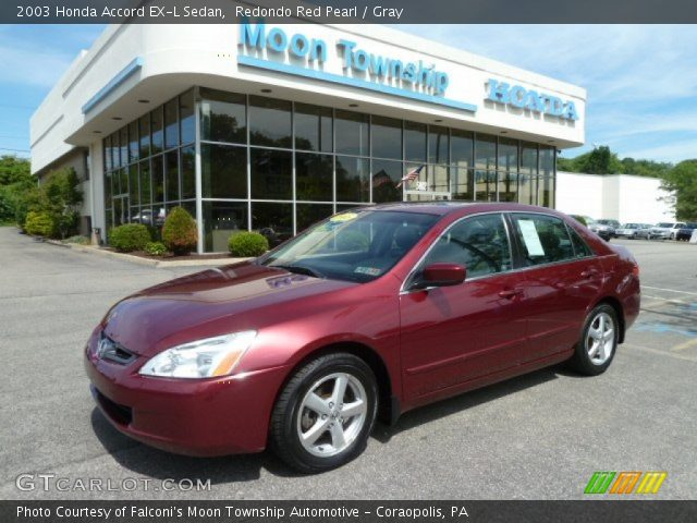 redondo red pearl 2003 honda accord ex l sedan gray interior vehicle. Black Bedroom Furniture Sets. Home Design Ideas