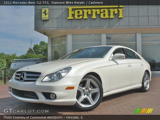 Diamond white metallic 2011 mercedes benz cls 550 for 2011 mercedes benz cls 550
