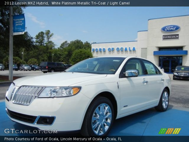 white platinum metallic tri coat 2012 lincoln mkz hybrid. Black Bedroom Furniture Sets. Home Design Ideas