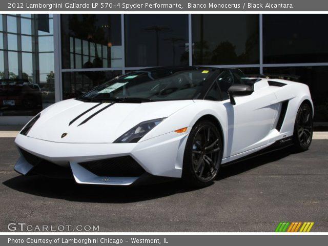 2012 Lamborghini Gallardo LP 570-4 Spyder Performante in Bianco Monocerus