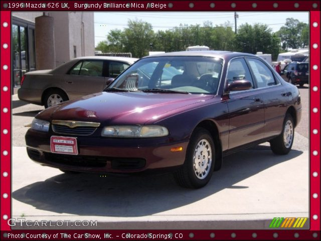 burgundy brilliance mica 1996 mazda 626 lx beige. Black Bedroom Furniture Sets. Home Design Ideas