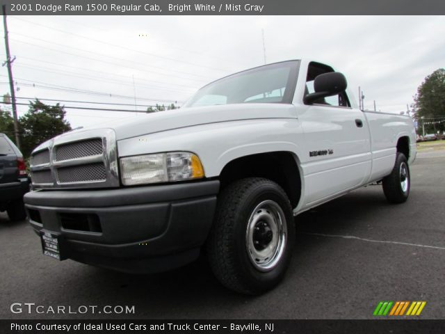 Bright White 2001 Dodge Ram 1500 Regular Cab Mist Gray