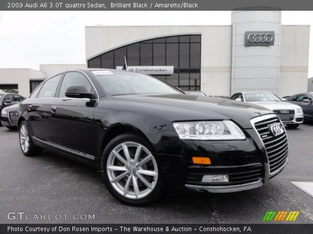 Brilliant Black - 2009 Audi A6 3.0T quattro Sedan - Amaretto/Black ...