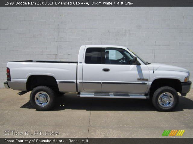 Bright White 1999 Dodge Ram 2500 Slt Extended Cab 4x4 Mist Gray Interior