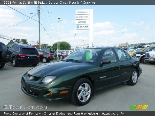 2001 Pontiac Sunfire SE Sedan in Spruce Green Metallic. Click to see ...