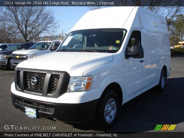 blizzard white 2012 nissan nv 2500 hd s high roof charcoal interior vehicle. Black Bedroom Furniture Sets. Home Design Ideas