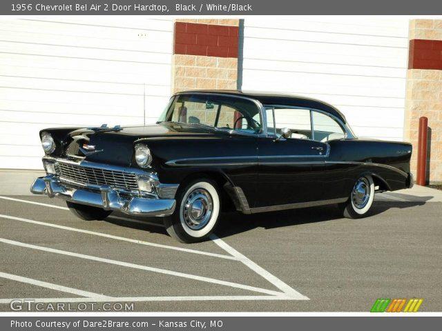 Outstanding Black 1956 Chevrolet Bel Air 2 Door Hardtop White Black Beutiful Home Inspiration Semekurdistantinfo