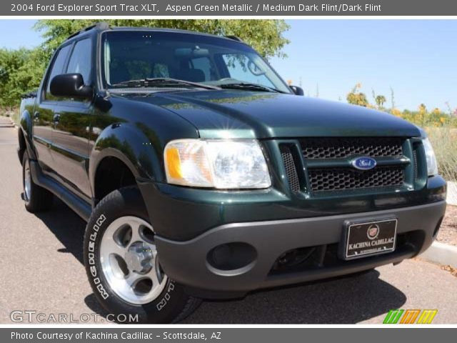 aspen green metallic 2004 ford explorer sport trac xlt medium dark flint dark flint interior. Black Bedroom Furniture Sets. Home Design Ideas