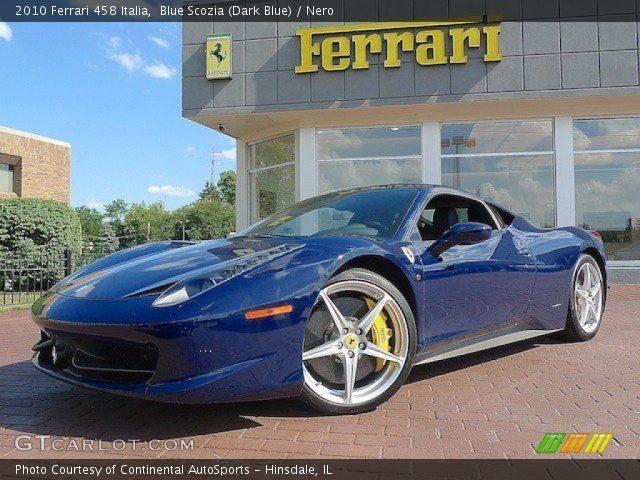 2010 ferrari 458 italia in blue scozia dark blue - Ferrari 458 Italia Blue