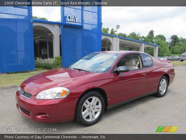 sport red metallic 2006 chevrolet monte carlo lt with. Black Bedroom Furniture Sets. Home Design Ideas