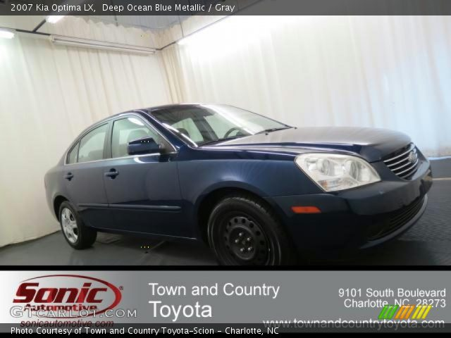 2007 Kia Optima LX in Deep Ocean Blue Metallic. Click to see large ...