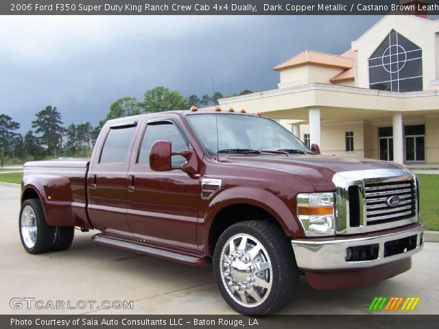 dark copper metallic 2006 ford f350 super duty king ranch crew cab 4x4 dually castano brown. Black Bedroom Furniture Sets. Home Design Ideas