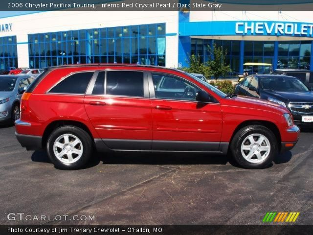 Inferno Red Crystal Pearl 2006 Chrysler Pacifica Touring Dark Slate Gray Interior Gtcarlot