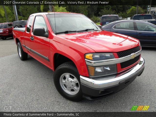 victory red 2007 chevrolet colorado lt extended cab. Black Bedroom Furniture Sets. Home Design Ideas