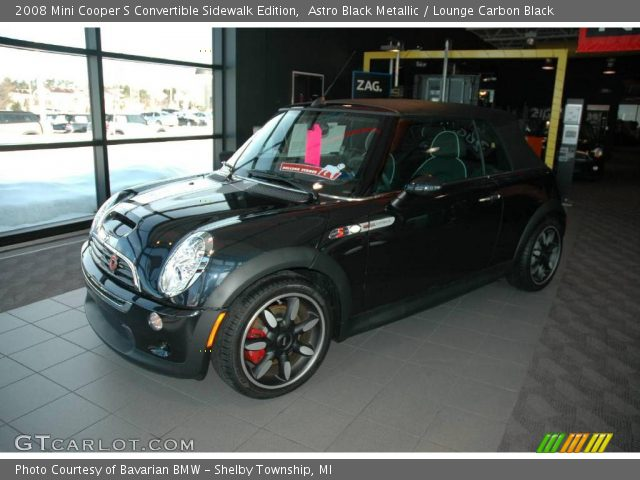 2008 Mini Cooper S Convertible Sidewalk Edition in Astro Black Metallic