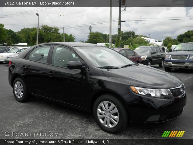 Ebony black 2012 kia forte ex stone interior for G stone motors used cars