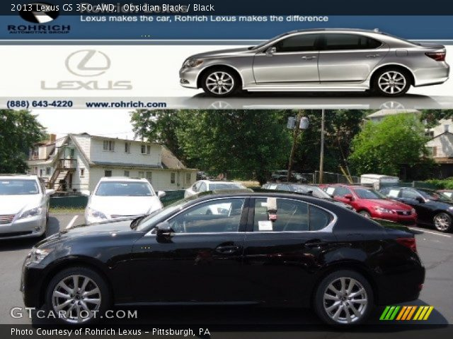 obsidian black 2013 lexus gs 350 awd black interior vehicle archive 67012145. Black Bedroom Furniture Sets. Home Design Ideas