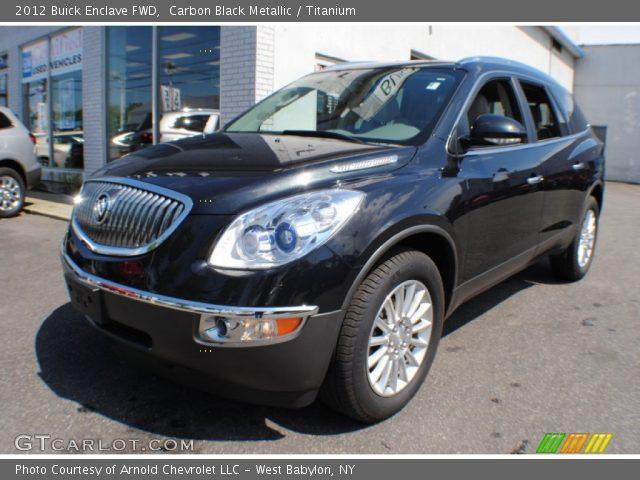 Carbon Black Metallic 2012 Buick Enclave Fwd Titanium Interior Vehicle