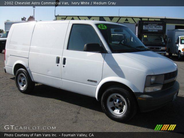 Ivory white 2002 chevrolet astro commercial van medium - Commercial van interior accessories ...