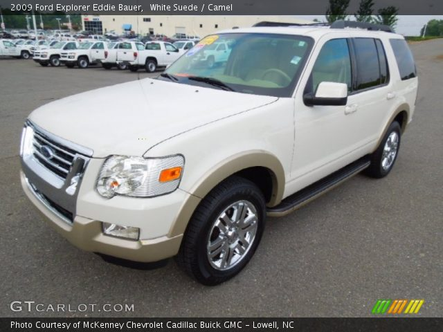 white suede 2009 ford explorer eddie bauer camel interior vehicle archive. Black Bedroom Furniture Sets. Home Design Ideas