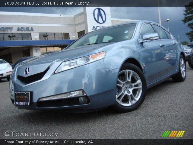 borealis blue pearl 2009 acura tl 3 5 ebony interior. Black Bedroom Furniture Sets. Home Design Ideas