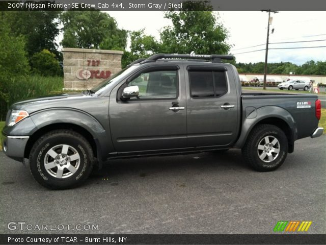 storm gray 2007 nissan frontier se crew cab 4x4 steel interior vehicle. Black Bedroom Furniture Sets. Home Design Ideas