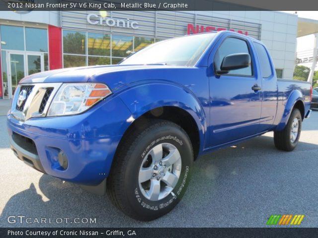 metallic blue 2012 nissan frontier sv v6 king cab graphite interior vehicle. Black Bedroom Furniture Sets. Home Design Ideas