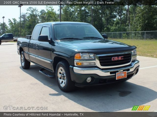 polo green metallic 2005 gmc sierra 1500 sle extended cab dark pewter interior gtcarlot. Black Bedroom Furniture Sets. Home Design Ideas