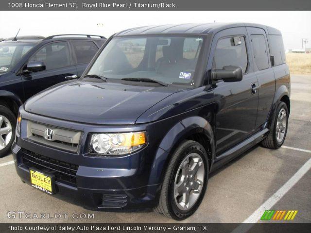 royal blue pearl 2008 honda element sc titanium black interior vehicle. Black Bedroom Furniture Sets. Home Design Ideas