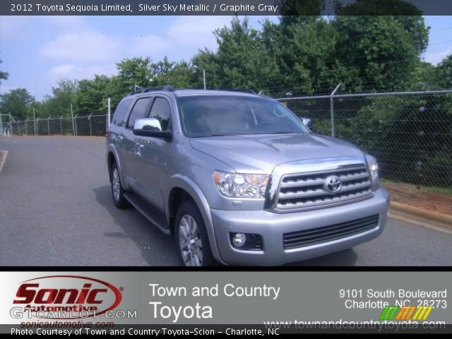 silver sky metallic 2012 toyota sequoia limited. Black Bedroom Furniture Sets. Home Design Ideas