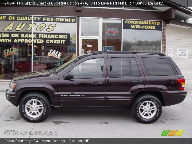 deep lava red metallic 2004 jeep grand cherokee special edition 4x4 dark slate gray interior. Black Bedroom Furniture Sets. Home Design Ideas