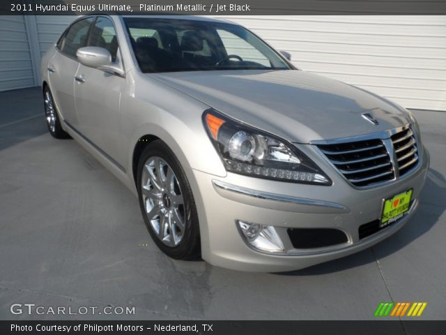 Platinum Metallic 2011 Hyundai Equus Ultimate Jet