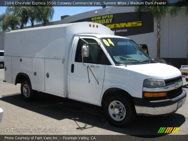 summit white 2004 chevrolet express 3500 cutaway. Black Bedroom Furniture Sets. Home Design Ideas