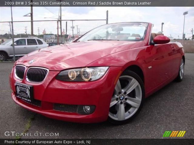 Crimson Red 2009 Bmw 3 Series 335i Convertible Saddle Brown Dakota Leather Interior